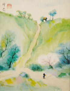 堂本印象「丘の道美し」3号S